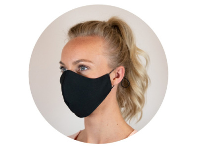 Re-usable face mask cotton 3-layer Made in Europe